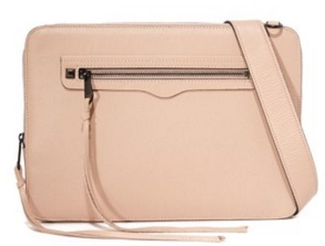 Rebecca Minkoff Regan Laptop Sleeve With Strap - Nude