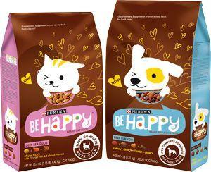 Purina Dog Cat Food Treats Packaging Be Happy Pet Food Packaging Dog Treat Packaging Food Animals