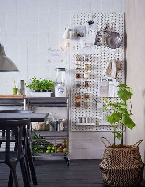Pegboard decorating ideas IKEA