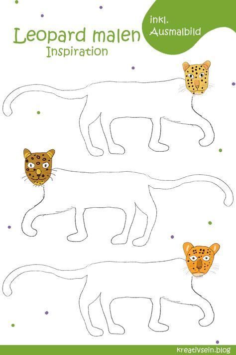 leopard malen für opa weil opa doch der leopard ist