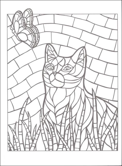 Mosaic Coloring Pages To Print Mosaic Animals Animal Coloring