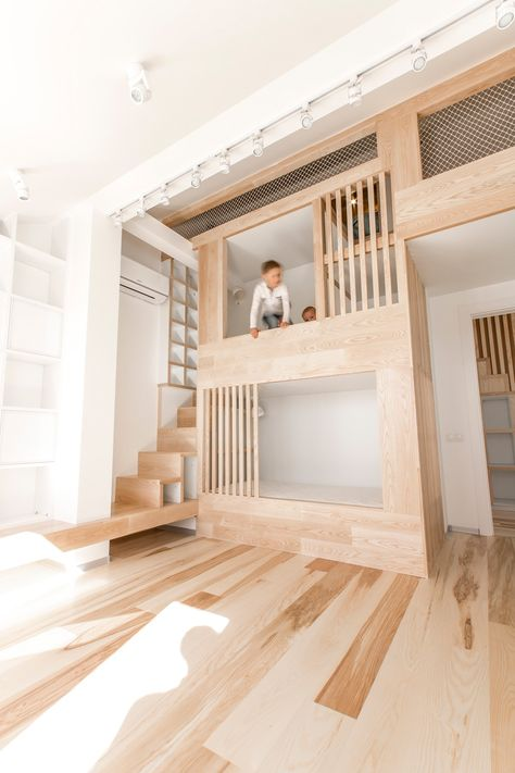 Ruetemple architects renovated this amazing moscow apartment for a young family with children the clients desired bright and comfortable living sp
