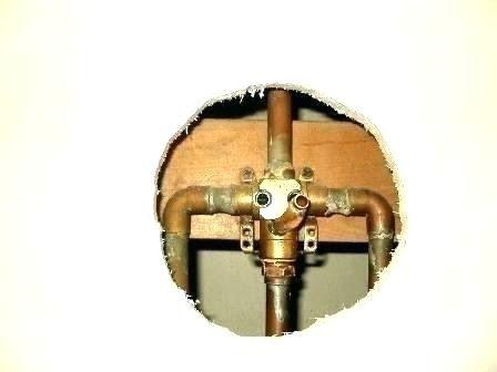 Premier Ashbury 3 Handle Tub Shower Faucet With Porcelain Cross