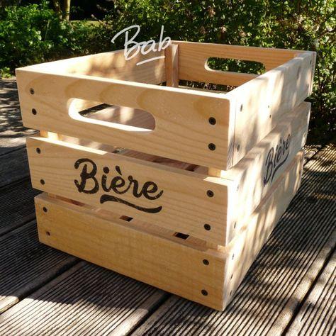 C Est Dans La Boite 6 To Beer Or Not To Beer Caisse Bois Idee Rangement Et Planches De Palettes
