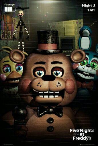 Me, Toy Freddy, Toy Bonnie and Marionette | Ethgoesboom