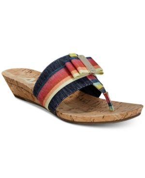e6fb6b37c5eccb Anne Klein Imperial Thong Wedge Sandals