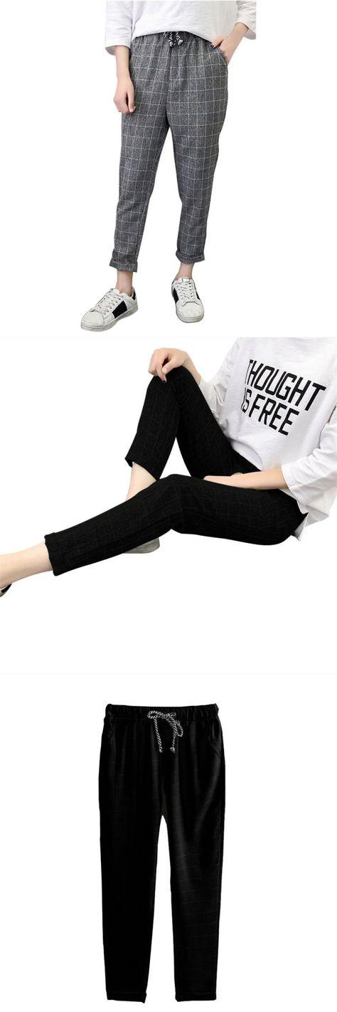 Womail Women High Waist Skinny Full Length Pants Casual
