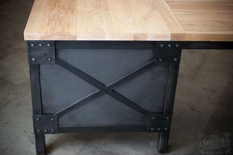 Office desk custom l shaped ash top desk wood von jrealfurniture