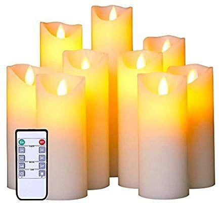 Amazon Com Flameless Led Candles Flickering Light Pillar Votive