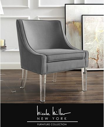 Accent Chairs Velvet Chair, Nicole Miller Furniture
