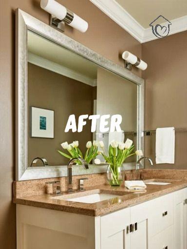 Bathroom Mirror Frames In 2020 Bathroom Mirror Frame Mirror Frame Diy Bathroom Mirrors Diy