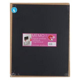 Plaque Magnetique Adhesive En Ardoise Noir L 40 X H 50 Cm En 2020 Tableau Ardoise Ardoise Magnetique Ardoise