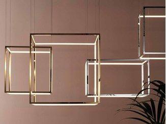 Led Metal Pendant Lamp Cube X Metal Pendant Lamps Cube Lamps Pendant Lamp