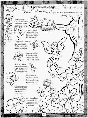 Poesias Da Primavera Atividades Sobre A Primavera Atividades