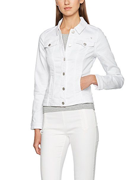 finest selection f5634 919b7 Comma CI Damen Jacke 88705434956 Weiß (White 0 - Jeansjacke ...