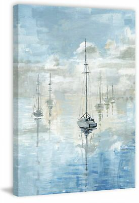 Marmont Hill Mh Julcrt 1448 C 60 60 Inch X 40 Inch Calm Clouds Blue Fashion Home Garden Homedcor Otherhomedcor Eb Painting Canvas Painting Canvas Art