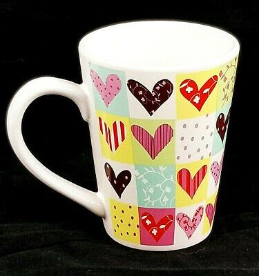 Real Home Colorful Hearts Valentines Coffee Mugs Let Us Entertain You 10 Oz In 2020 Coffee Valentines Colorful Heart Mugs