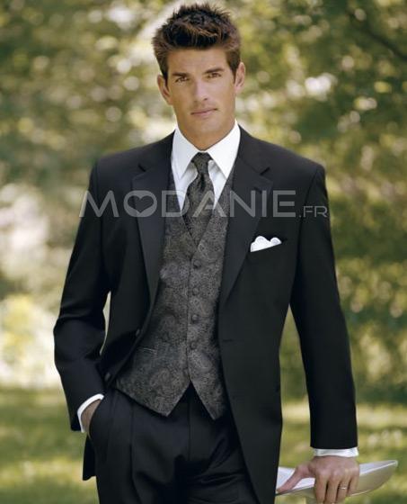 Costume homme élégant deux boutons en tissu satin beau gilet   M1408206766   - modanie 87db2d290eb