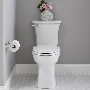 American Standard Edgemere White Watersense Elongated Chair Height 2 Piece Toilet 10 In Rough In Size At Lowes Com In 2020 Edgemere Bathroom Design Styles Water Sense