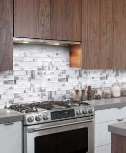 Gray Backsplash Tile Mosaics Ideas Backsplash Com Kitchen