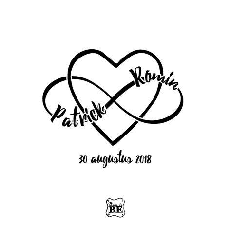 Trouwlogo dat we ontwierpen voor Patrick & Romin  Wedding logo that we designed for Patrick & Romin