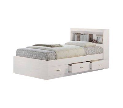 Keira Platform Bed With Drawers And Bookcase Allmodern In 2020 Platform Bed With Drawers Bed With Drawers Bed Storage
