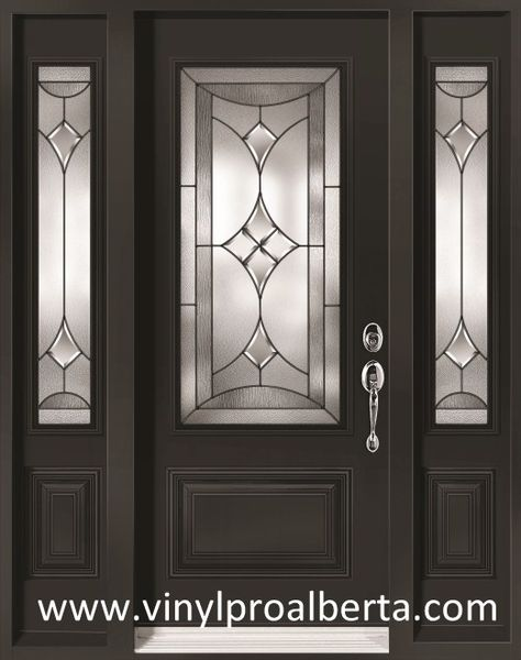 Cheap Entry Doors with Side Lights | Steel Entry Door with 2 Sidelights RENOIR [REN104-N&REN105-N/2S-VS-CC ...
