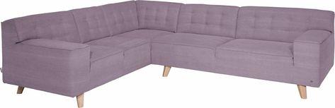 Ecksofa Nordic Chic Im Retrolook Fusse Buche Natur Couch Home Decor Furniture