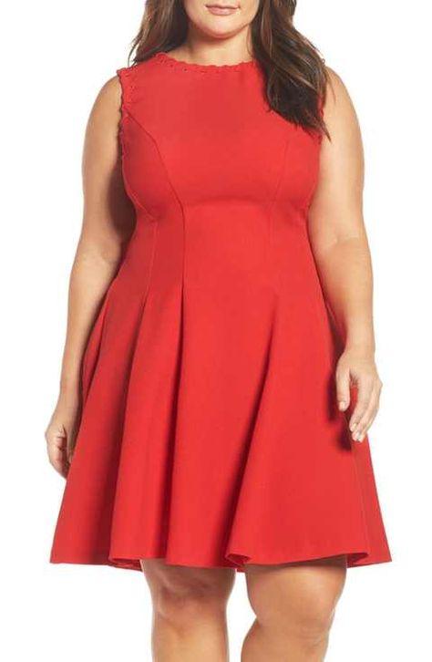 Gabby Skye Fit & Flare Dress (Plus Size) | Clothing ...