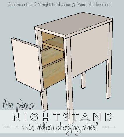 Nightstands Day 13 Deep With Hidden Charging Shelf In 2020 Diy