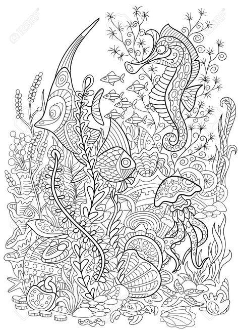 Stock Photo Con Imagenes Dibujos Para Colorear Adultos Libro