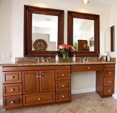 Single Bathroom Vanity With Makeup Area