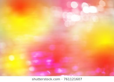 Red Gold White Bokeh With White Color Abstract Background Can Be