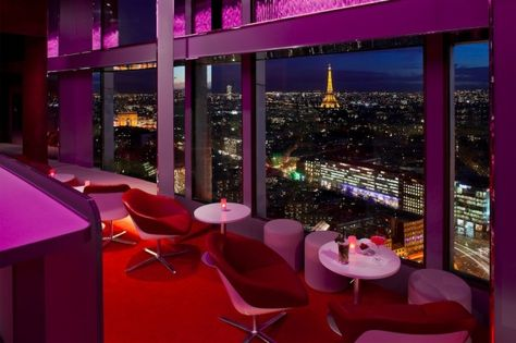 'La Vue'... New Bar on the 34th Floor of Concorde Lafayette Tower offers fantastic view over Paris !