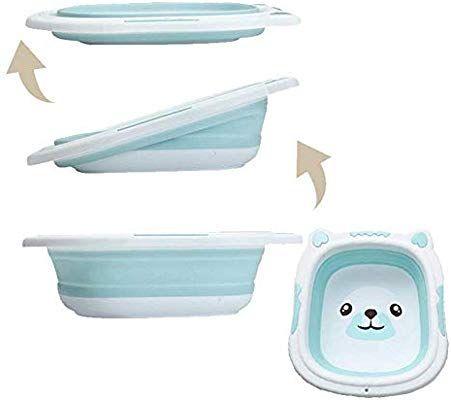 Hbiao Transat De Bain Pour Bebe Portable Bebe Baignoire Pliage Bassin En Silicone Lavabo Pliable Tourisme Enfants Laver Transat De Bain Douche Bebe Bain Bebe