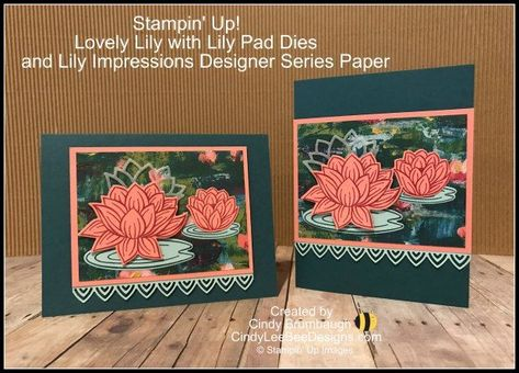 Photo of Stampin' Up! Lovely Lily with Lily Pad Dies & Lily Impressions DSP Sale-A-Bration Gifts!
