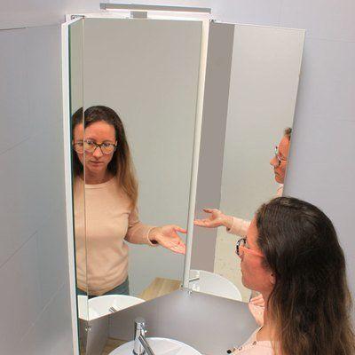 Miroir Triptyque D Angle Armoire De Toilette Salle De Bain Toilettes