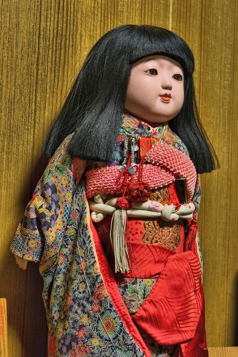 Another Modern Ichimatsu Doll Dressed In A Furisode With A