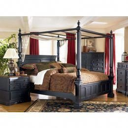 Ashley Furniture Rowley Creek King Poster Bed W Canopy By Ashley