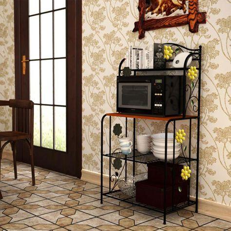 Yontree Kitchen Storage Rack Oven Holder Vintage Cookware