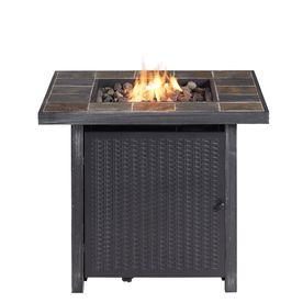 Bali 30 In W 50000 Btu Steel Fire Table Lowes Com Gas Fire Table