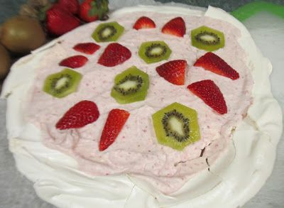 Pavlova with Strawberry Whipped Cream