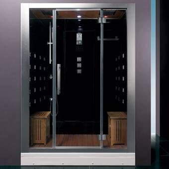 85 X 87 Neo Angle Hinged Steam Shower With Base Included Steam