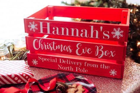 "STUNNING 9/"" x 8/"" Christmas eve box Vinyl Decal Sticker DIY"