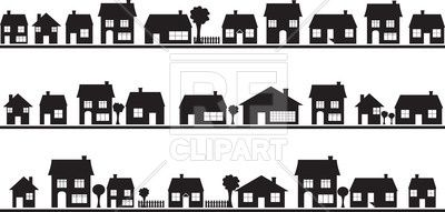 Neighbourhood Silhouettes Of Country Houses 34624 Download Royalty Free Vector Clipart Eps House Silhouette Silhouette Architecture The Neighbourhood
