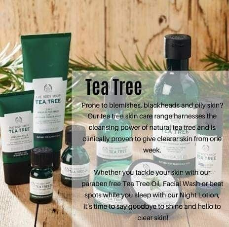 Tea Tree If You Are Prone To Acne And Have Oily Skin Then Try Our Tea Tree Range From Face Wa Body Shop Skincare Body Shop At Home Best Body Shop