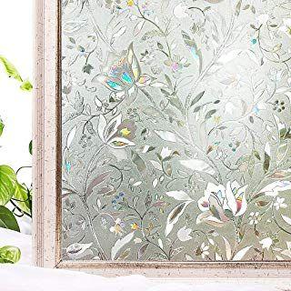 Oxdigi Privacy Window Film Static No Glue Decorative Window Clings