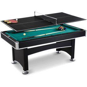 Triumph Phoenix 7 Billiard Table With Table Tennis Conversion Top Walmart Com Biliar Meja Bilyar Tennis Meja