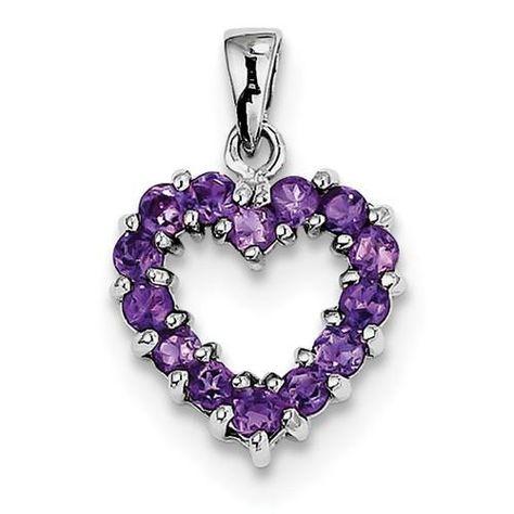 Purple Amethyst Bow Tie Two Hearts Pendant Love Knot Charm Fashion Purple Sterling Silver