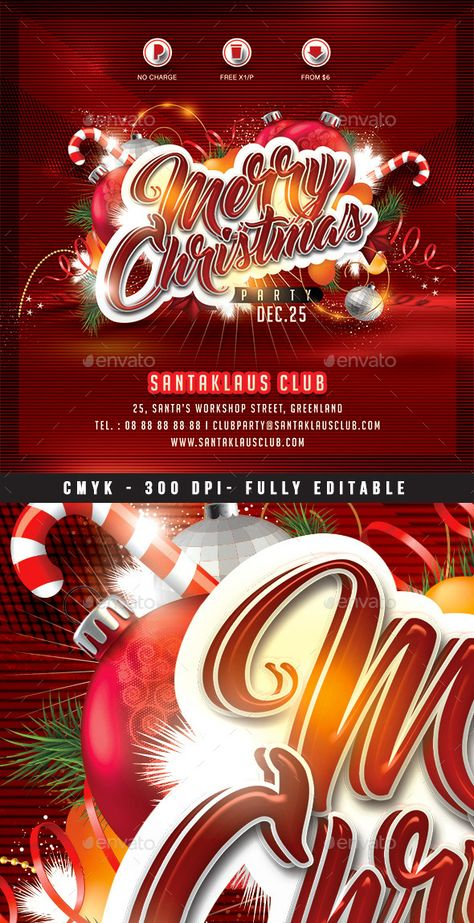 Christmas Party Flyer Template 4 Christmas parties, Flyers and - christmas flyer template